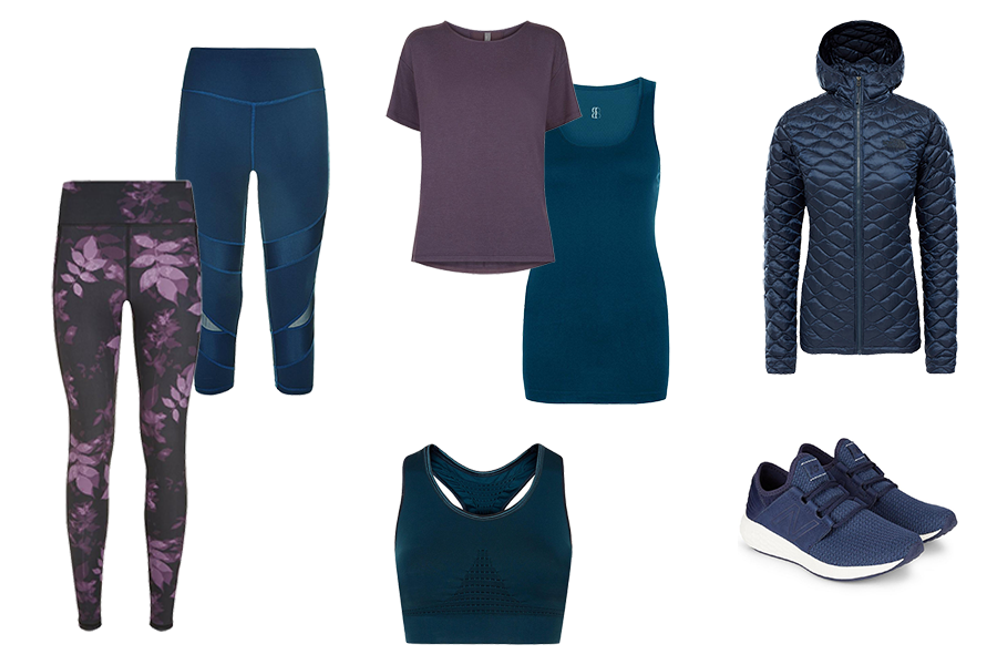 sports wear capsule wardrobe, Sweaty Betty, leggings, t-shirts, sports bra, trainers