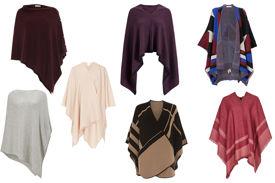 capsule wardrobe updates, wraps, ponchos and shawls
