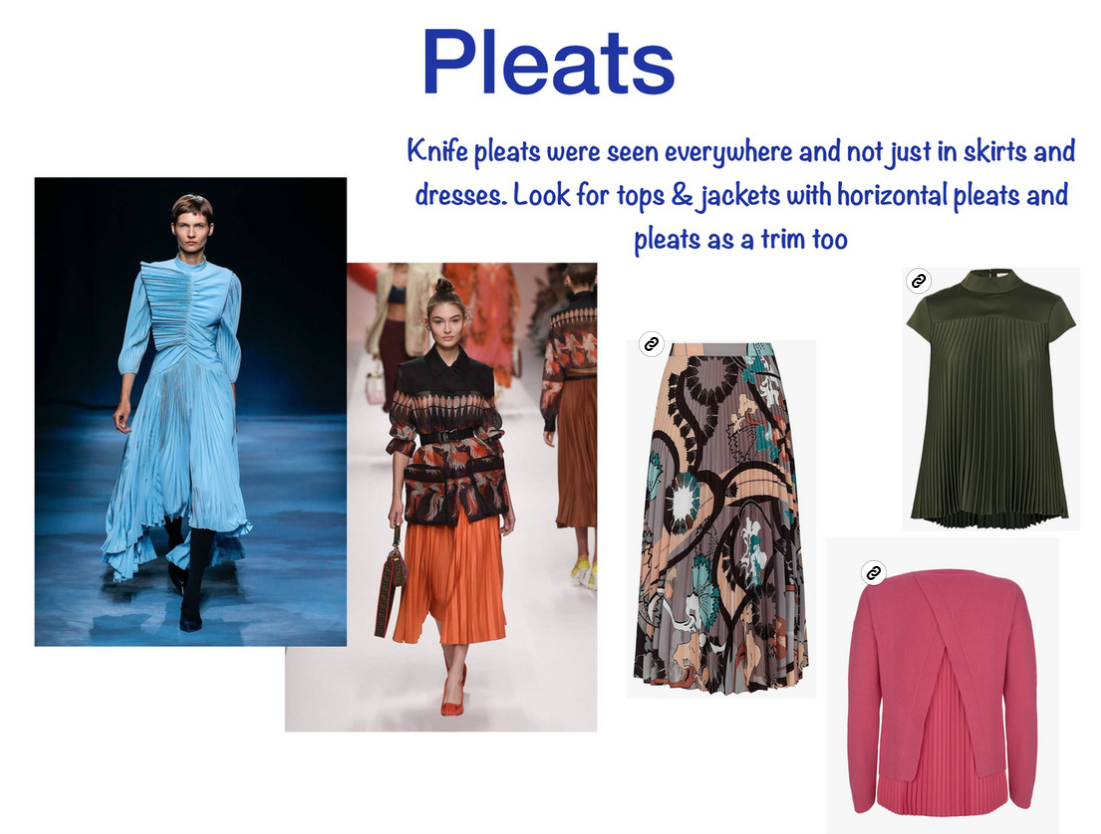 colours and trends for spring 2019, spring trend pleats and how to wear them