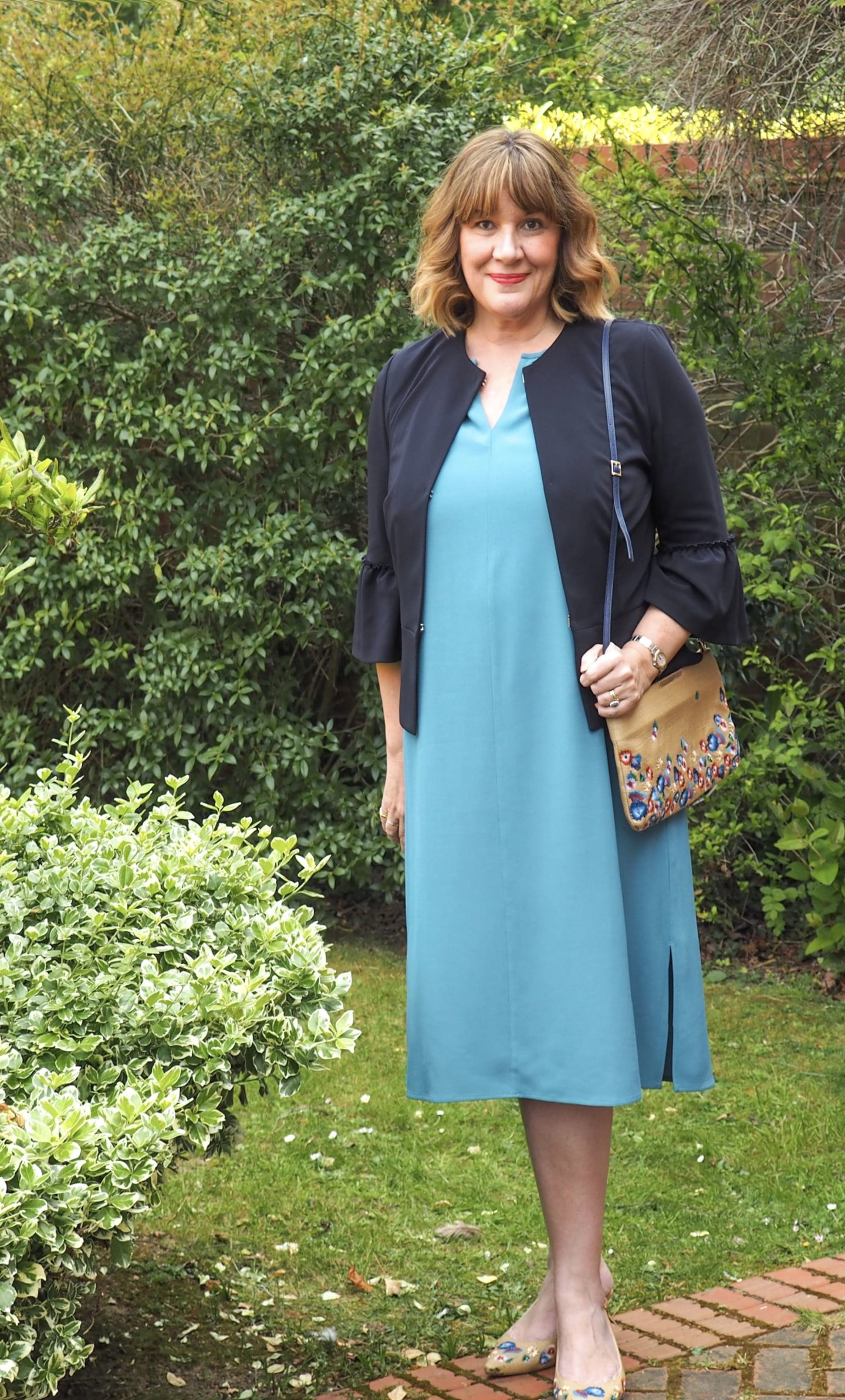 What To Wear With A Teal Dress