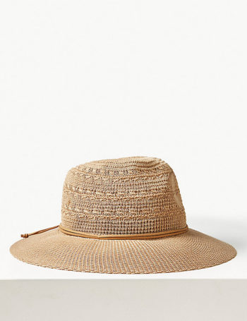 Soft fedora hat, neutral, Marks and spencer