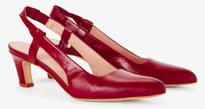 June's top buys, red leather sling back shoes