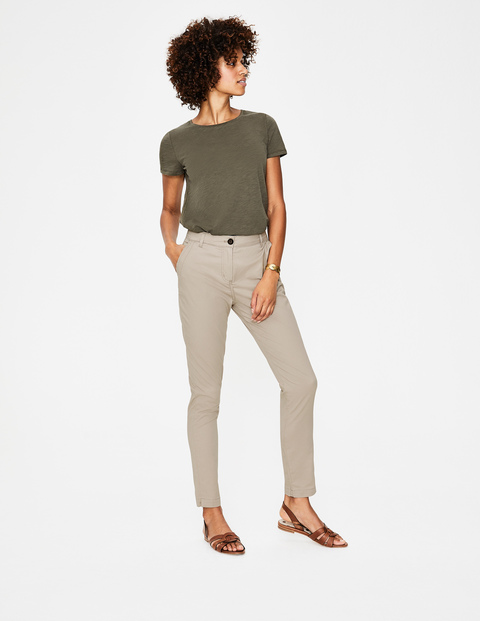 neutral cotton chinos