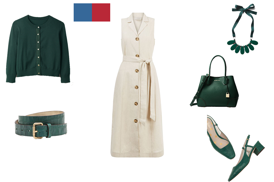 how to mix colours for deep colouring, stone dress and pins green accessories