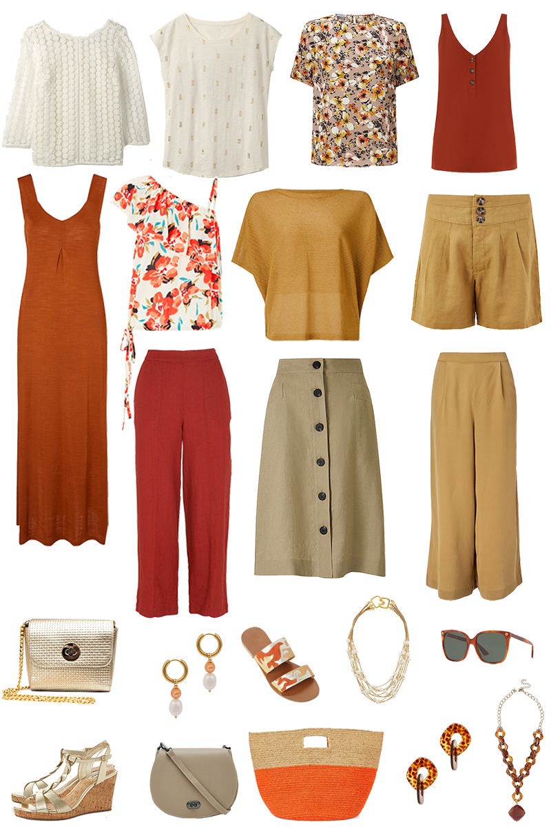 A Summer Capsule Wardrobe in Earthy Tones
